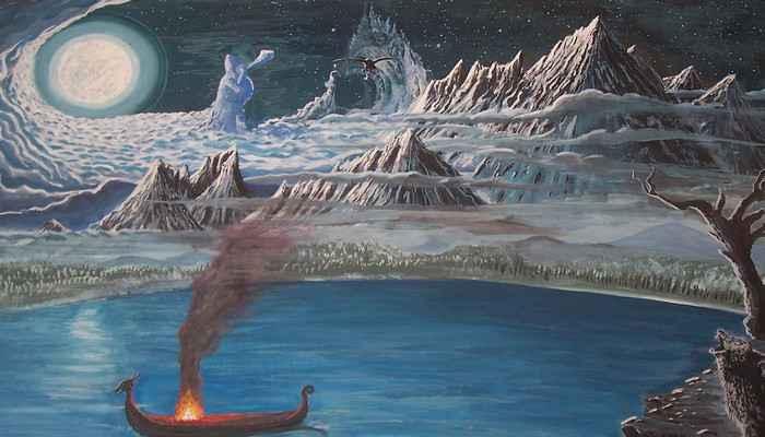 В центре скандинавской картины мира находится Мидгард - срединный мир